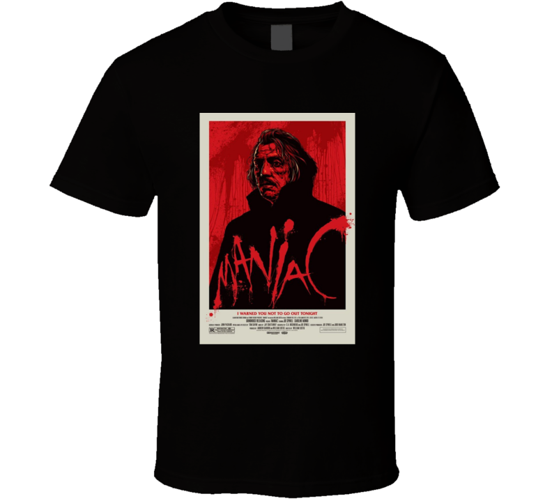 Maniac Horror Movie Classic Brand New Black T Shirt