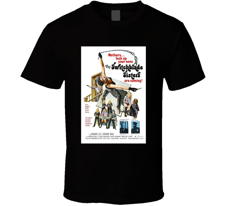The Switchblade Sisters Action Movie Classic Brand New Black T Shirt