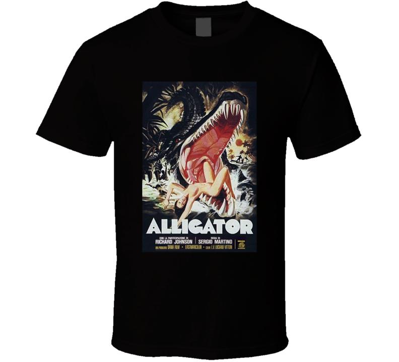 Alligator Horror Movie Classic Brand New Black T Shirt