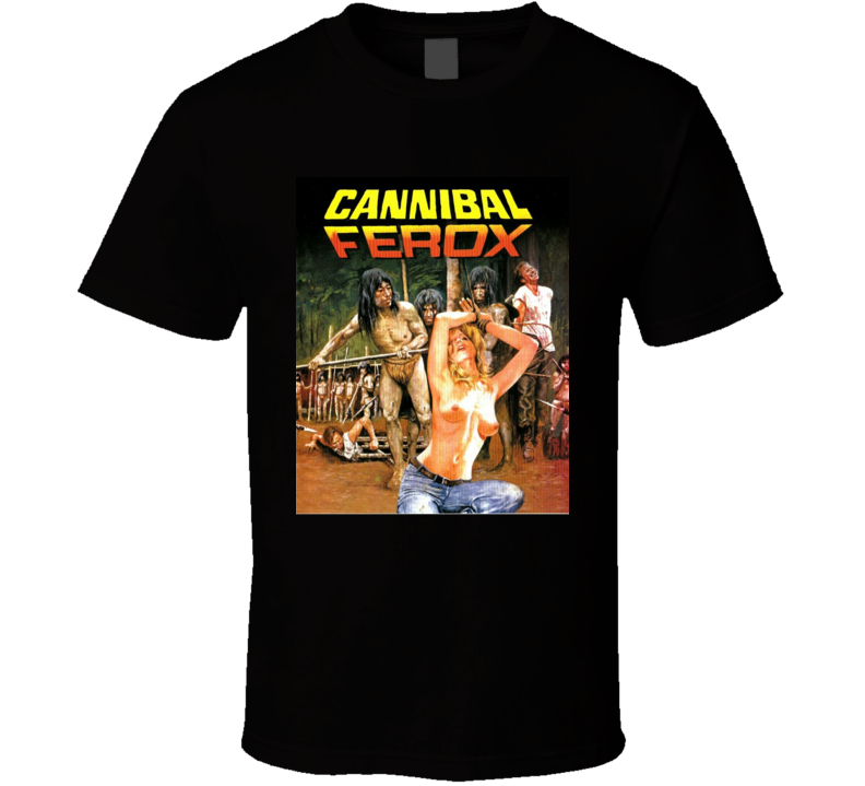 Cannibal Ferox Movie Horror Classic Brand New Black T Shirt