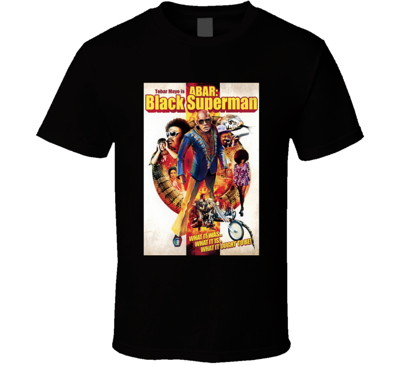 Abar Black Superman Classic Action Movie Brand New Black T Shirt