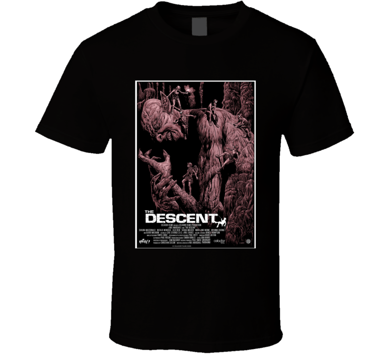 The Descent Horror Movie Classic Brand New Black T Shirt
