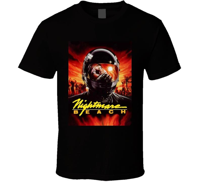 Nightmare Beach Horror Movie Classic Brand New Black T Shirt