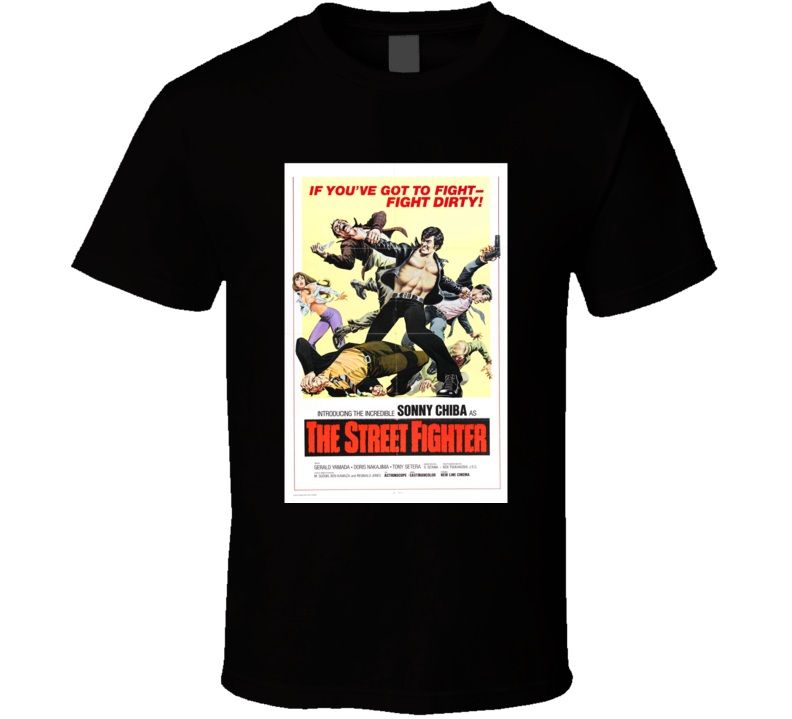 The Street Fighter Action Movie Classic Brand New Black T Shirt