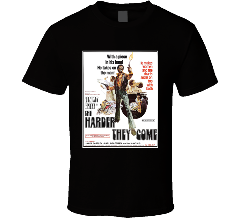 The Harder They Come Action Movie Classic Brand New Black T Shirt