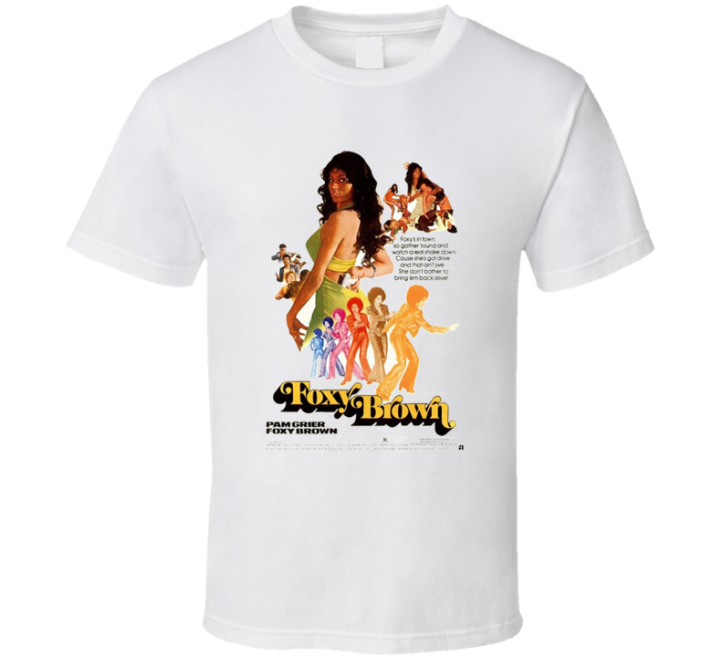 Foxy Brown Movie Classic Brand New Black T Shirt