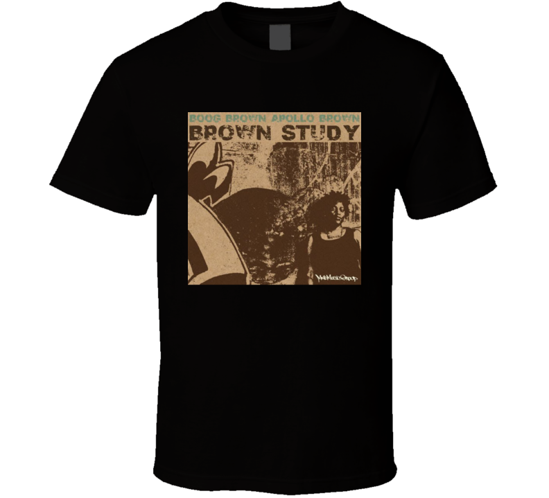 Boog Brown Apollo Brown Brown Study Brand New Hip Hop Classic T Shirt