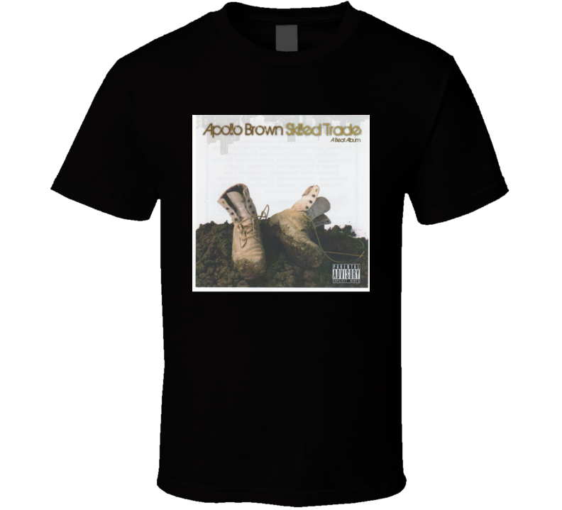 Apollo Brown Skilled Trade Brand New Classic Black Hip Hop T Shirt