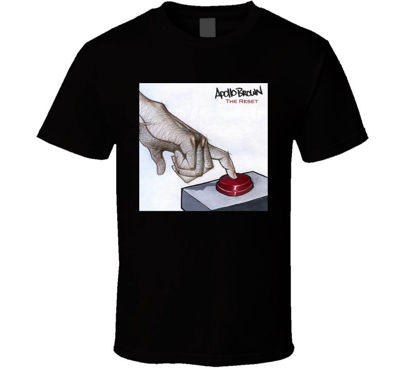 Apollo Brown The Reset Brand New Classic Black Hip Hop T Shirt