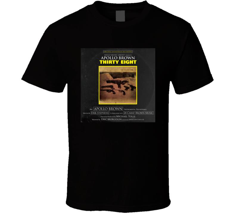 Apollo Brown Thirty Eight Brand New Classic Black Hip Hop T Shirt