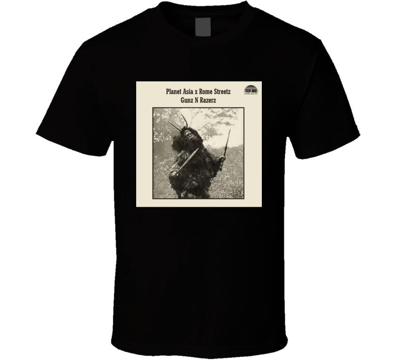 Planet Asia And Rome Streetz Guns N Razerz Brand New Classic Hip Hop T Shirt
