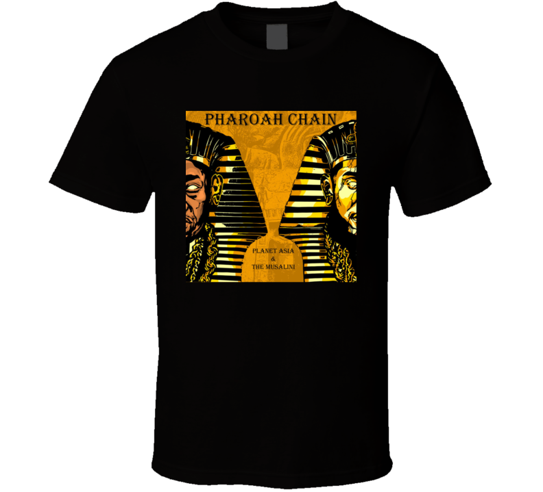 Planet Asia And The Musalini Pharoah Chain Brand New Classic Hip Hop T Shirt