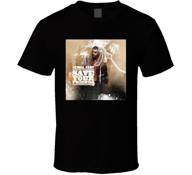 Verbal Kent Save Your Friends Brand New Black Classic Hip Hop T Shirt