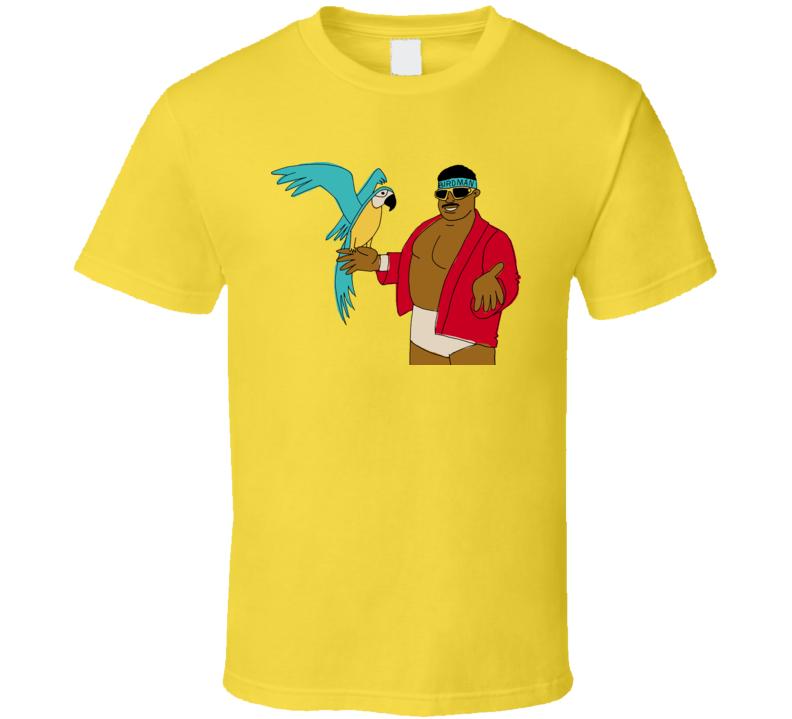 Koko B Ware Wrestling Wrestler Parrot T Shirt