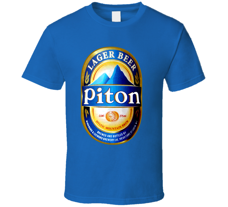 Piton Beer Lager St Lucia Vacation Island T Shirt