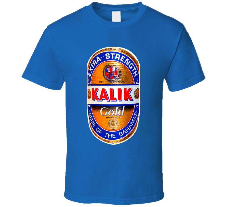 Kalik Gold Beer Bahamas Barbados Lager T Shirt