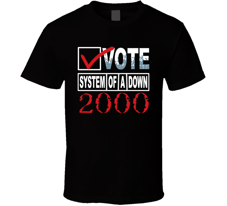 System Of A Down Vote Music T Shirt