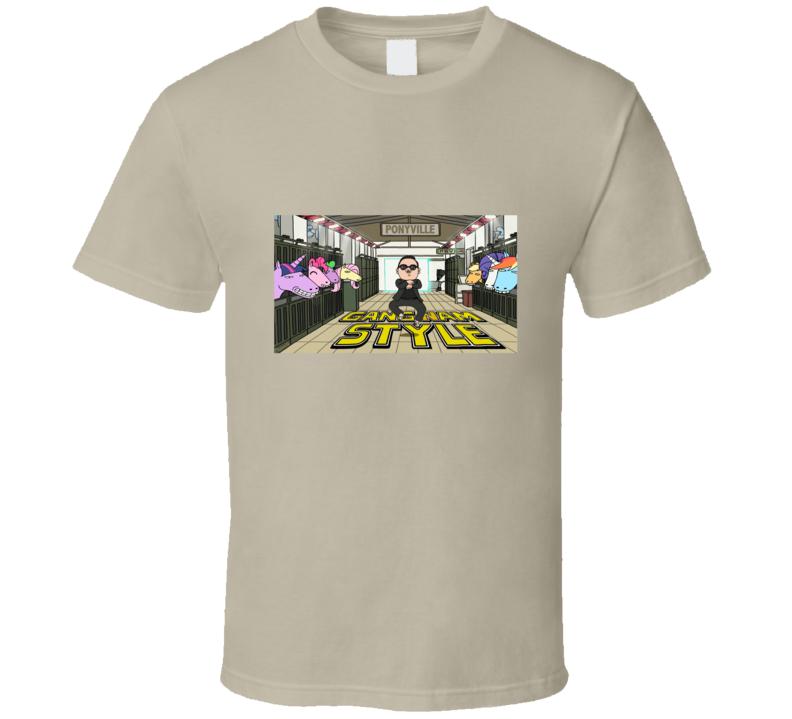 gangnam style cartoon funny t shirt