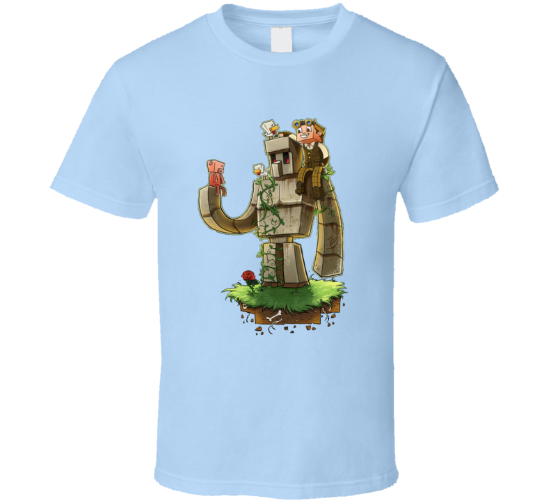 Iron Golem Minecraft Inspired T-Shirt
