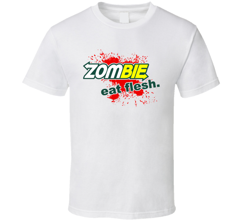 Funny Subway Zombie Eat Flesh Parody Restaurant Bloody T-Shirt
