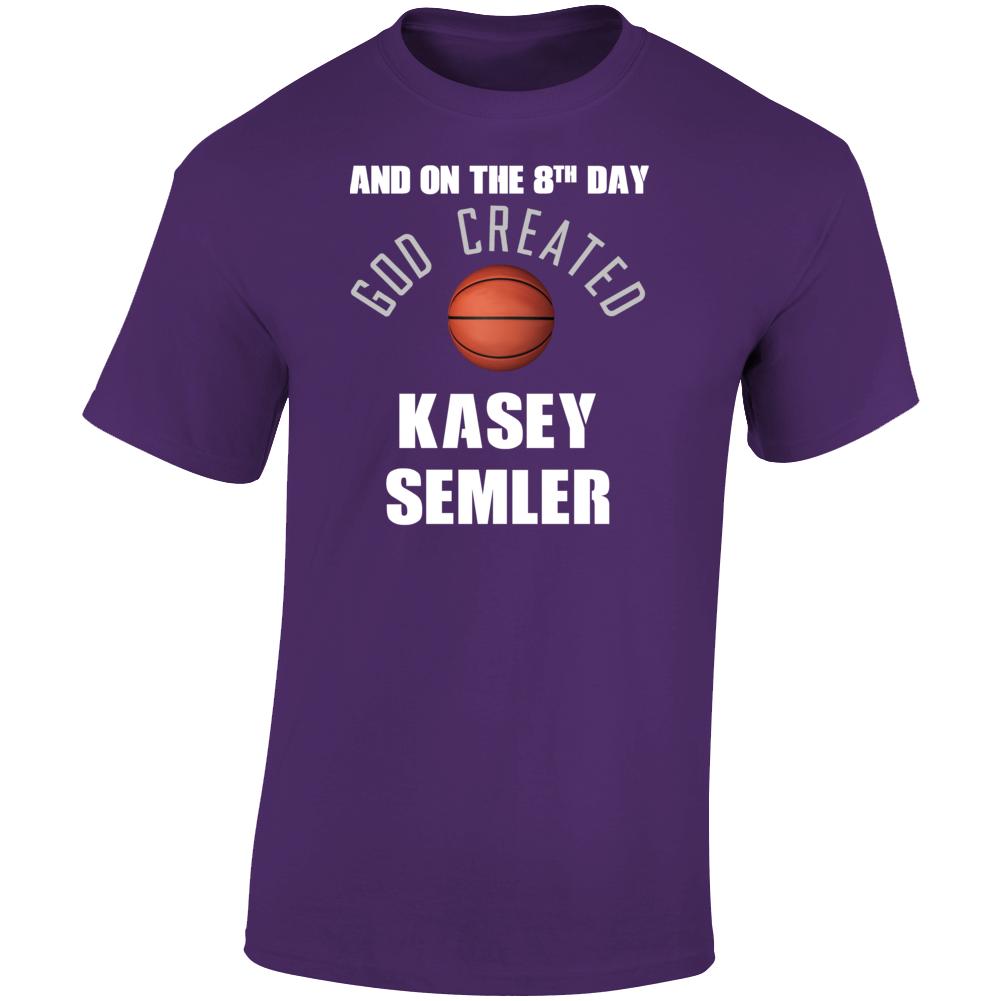 8th Day God Created Kasey Semler Northern Iowa Basketball T Shirt