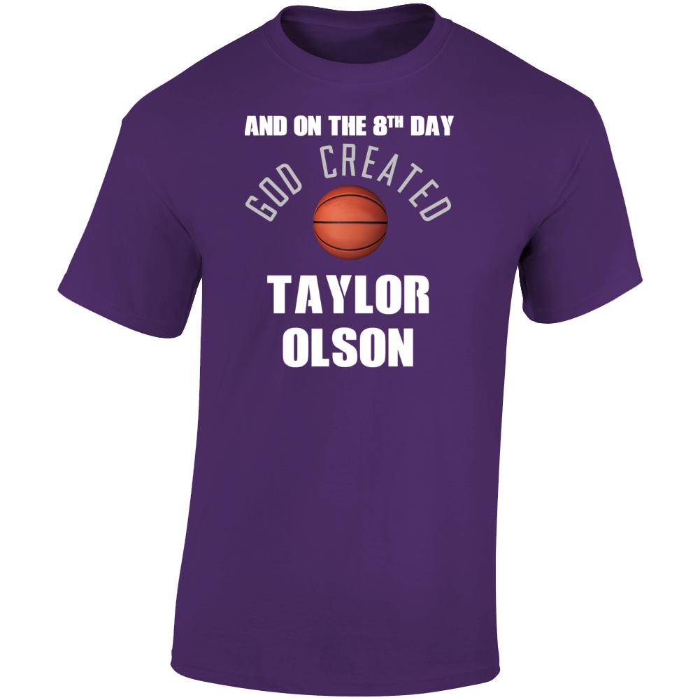 8th Day God Created Taylor Olson Northern Iowa Basketball T Shirt