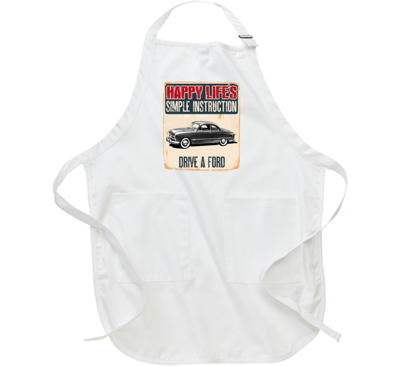 Happy Lifes Simple Instruction 1949 Ford Car Apron