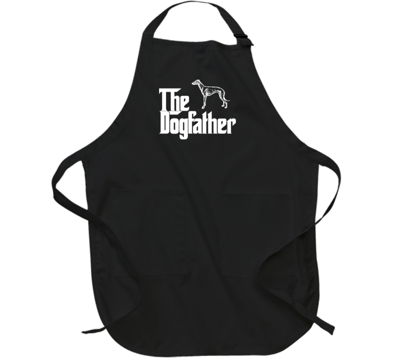Greyhound Custom Dog Breed The Dogfather Black Apron