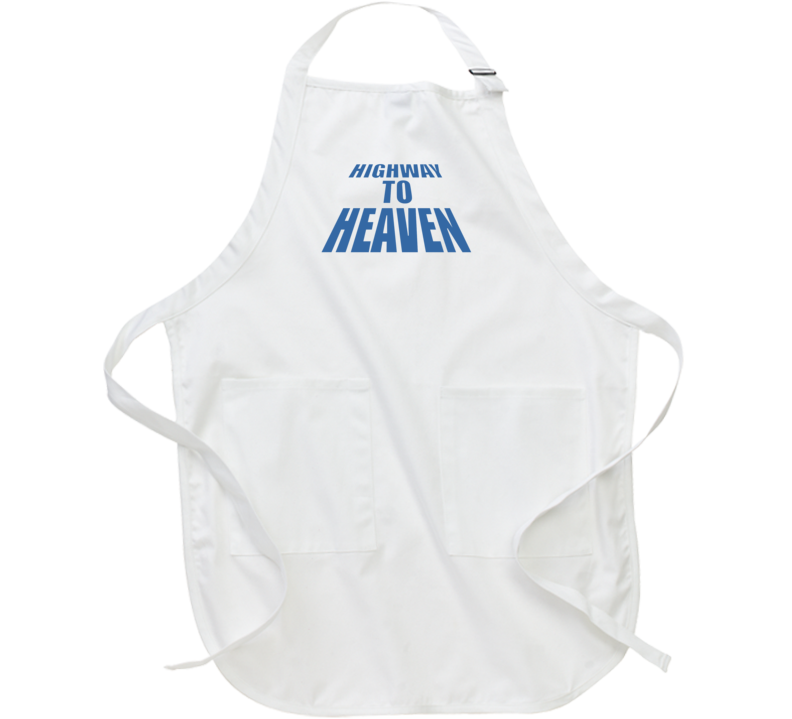 Highway To Heaven Retro 80s Tv Show Logo Fan Apron