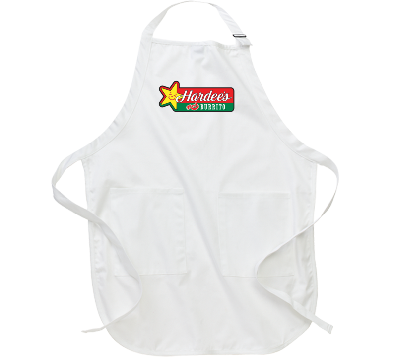 Hardees Red Burrito Mexican Grill Fast Food Restaurant Logo Chef Kitchen Apron