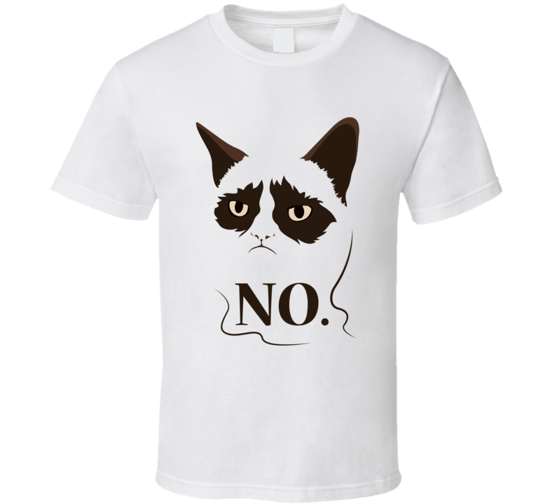 grumpy cat no t-shirt hate everything how about no sm-6xl funny tee
