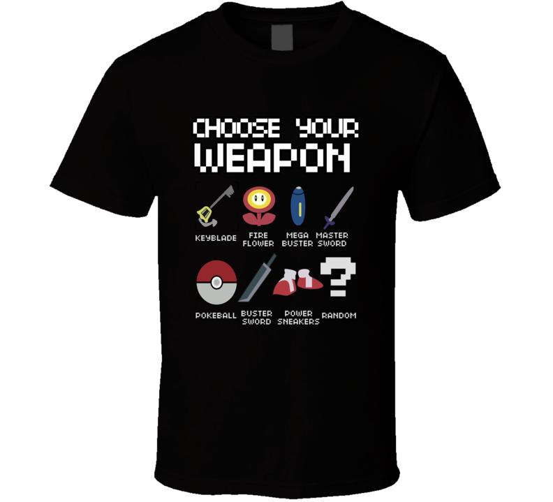 choose your weapon guitar or gamer t shirt nerd sm-6xl