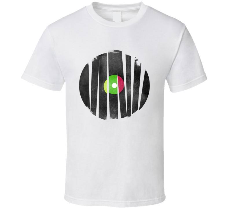 broken record scratch hip hop rap DJ turntable mc vinyl t-shirt sm-6xl