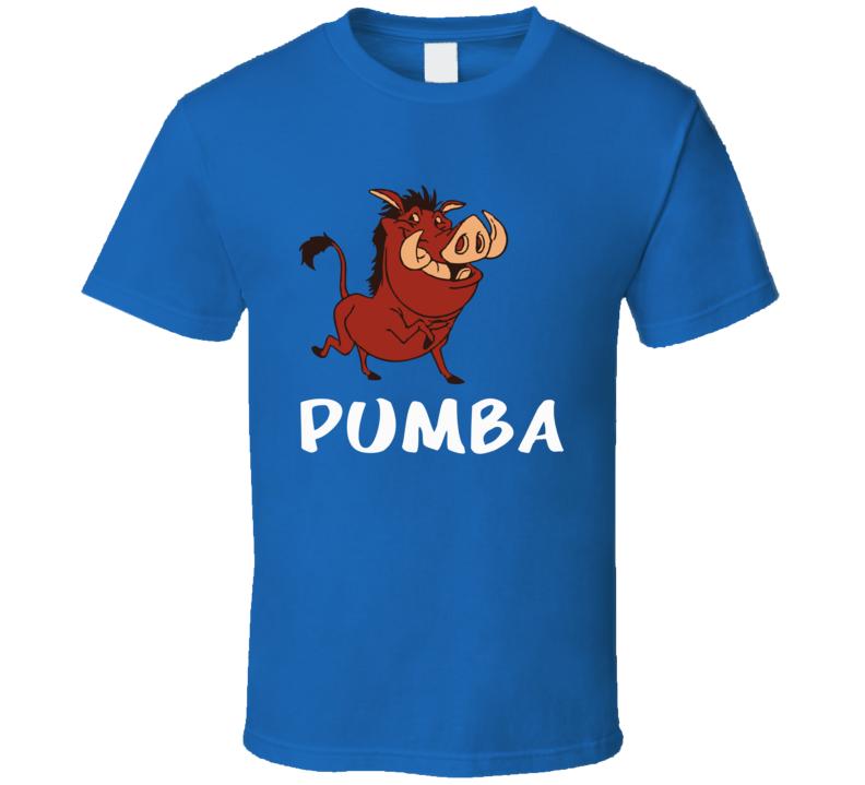 Funny Cute T-Shirt Homme Pumba Men Women Unisex Jersey Homme Costume L-XL Tee