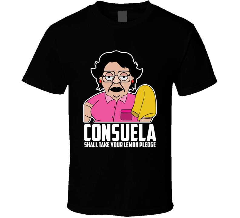 Consuela Shall Take Your Lemon Pledge T Shirt the Simpsons no no maid tee
