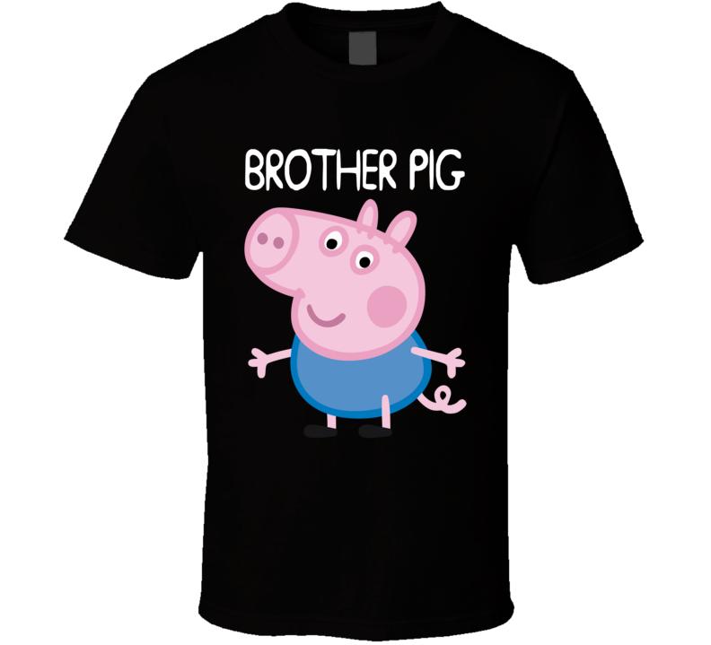 Brother Pig T Shirt anime cartoon minecraft peppa pig family tee