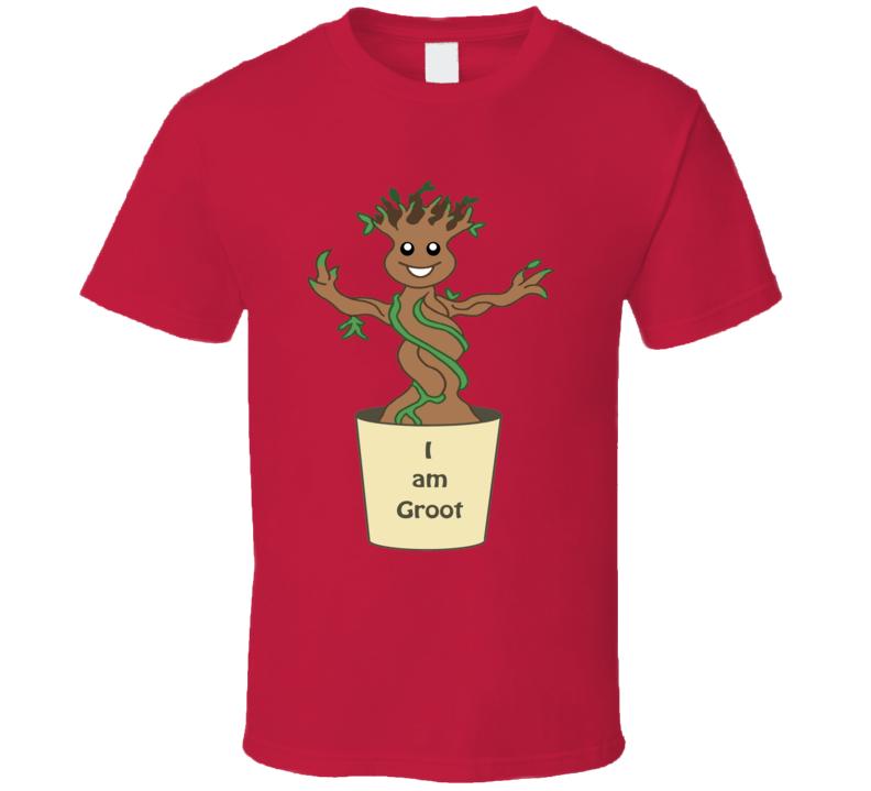 I Am Groot T Shirt Fictional Superhero Guardians Of The Galaxy's Groot Tee