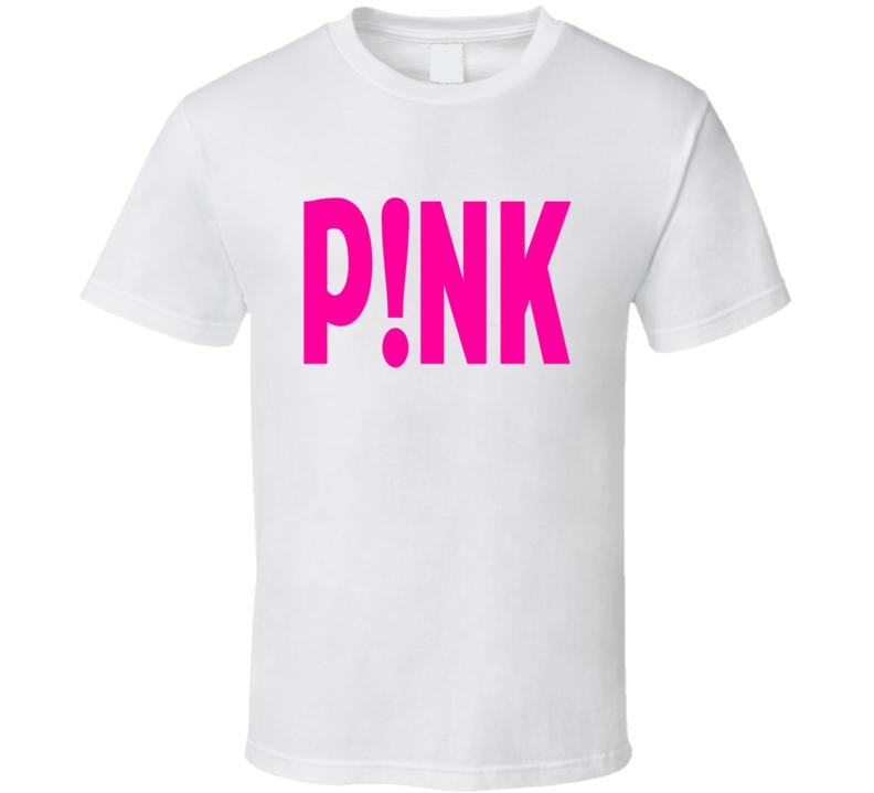 604630a1 P!NK Pink T Shirt singer music hip hop white tee