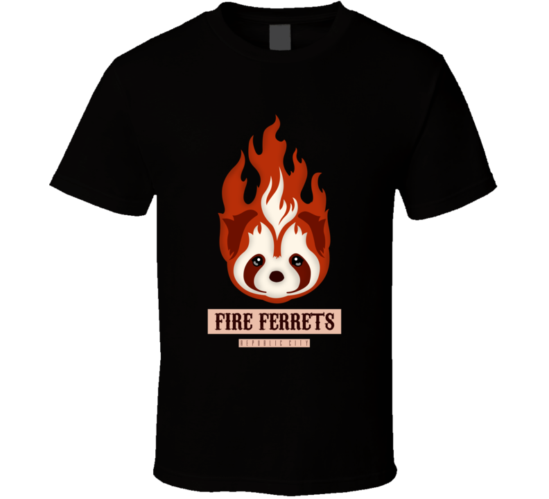 Fire Ferrets republic T Shirt Avatar Korra anime logo tee