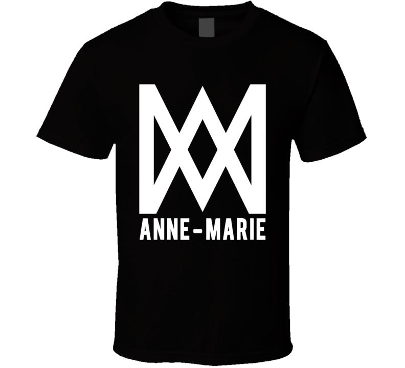 Anne Marie logo T Shirt rockabye clean bandit singer black tee