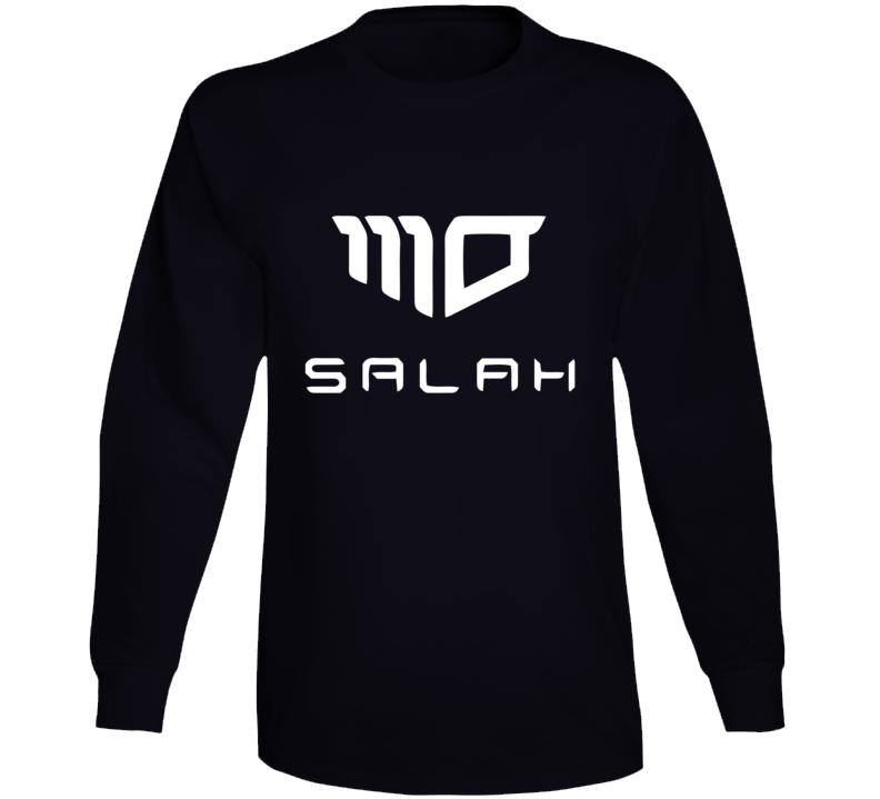 Mohamed Salah long sleeve tee black Egyptian soccer player liverpool