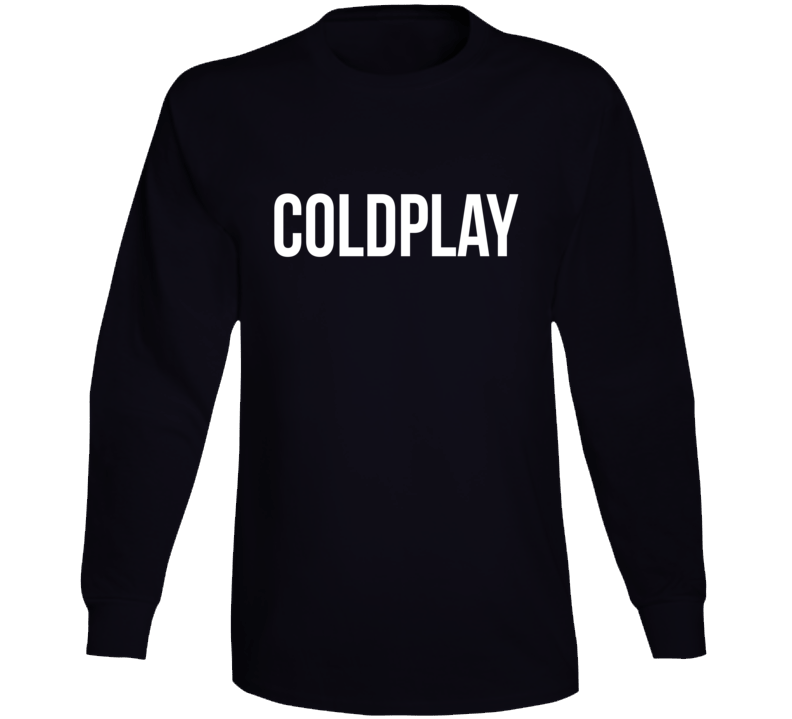 Coldplay t shirt music Long Sleeve tee black mens