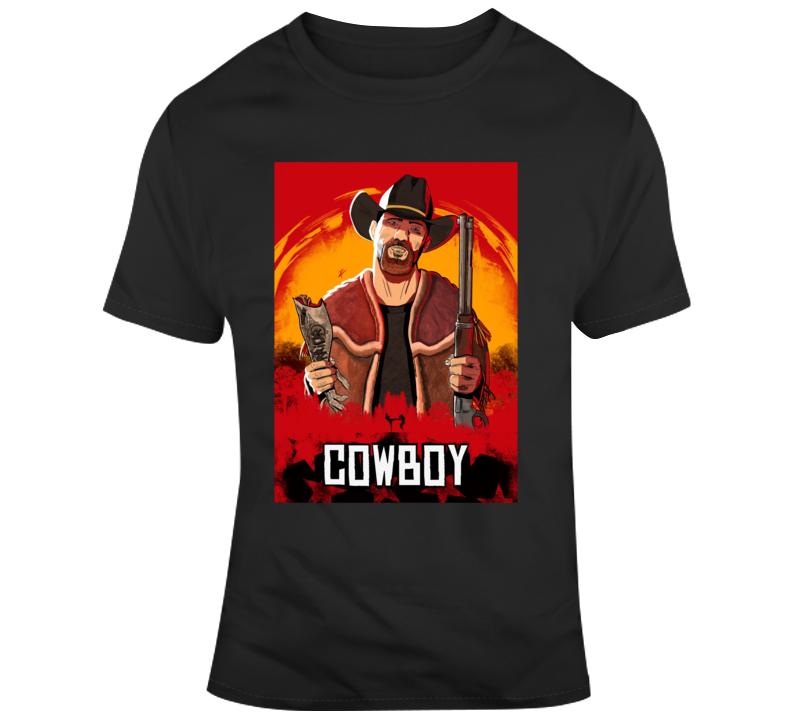 Cowboy T Shirt Donald Cerrone UFC MMA black tee
