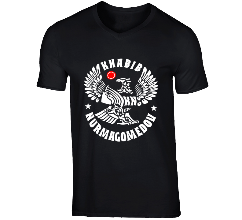 Khabib Nurmagomedov T Shirt the eagle Black ufc tee