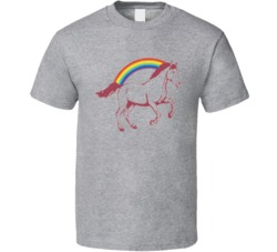 Logan Movie Laura Kinney Horse Rainbow Cool Movie  T Shirt