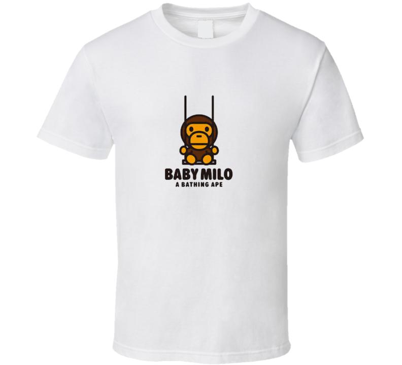 Bathing Monkey Baby Ape Swing T Shirt