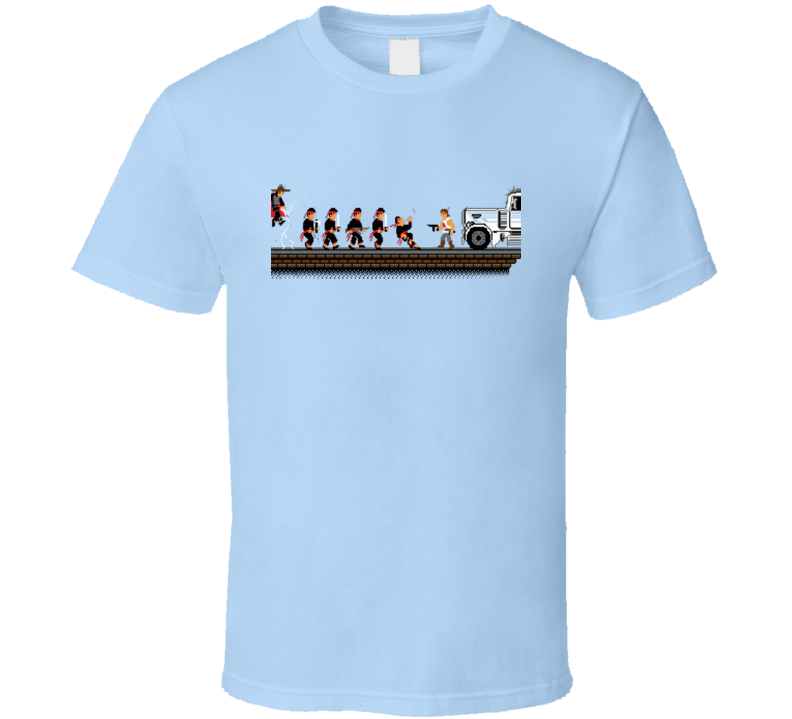 Big Trouble in Little China 8 Bit Classic 80s Cult Movie T Shirt