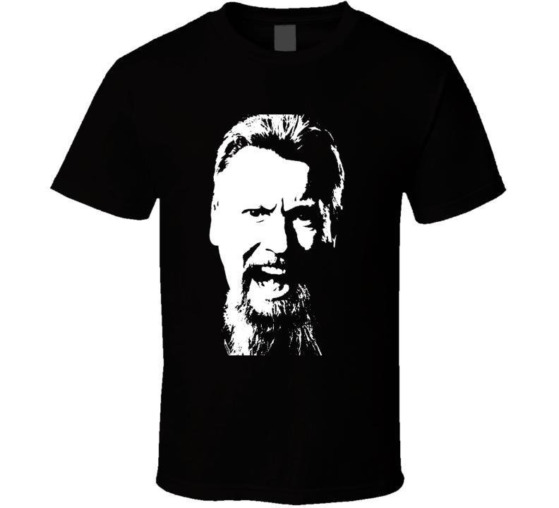 Simon The Wizard Whitlock Premier Darts Big Head Silhouette T Shirt