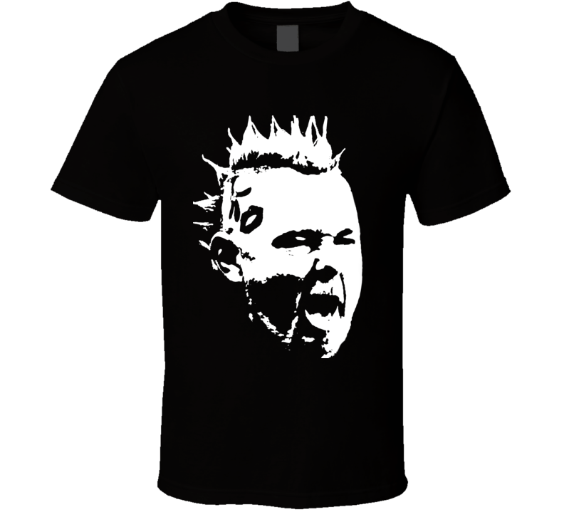 Peter Wright SnakeBite Premier Leauge Darts Big Head Silhouette T Shirt