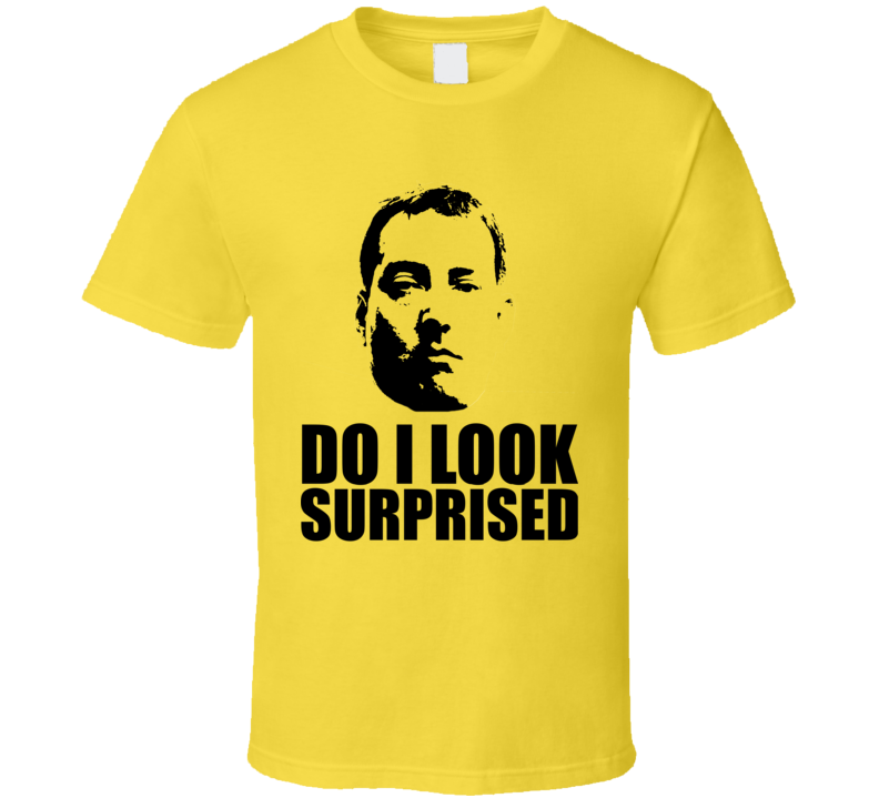 Cool Funny Kyle Busch Surprised Big Head Silhouette NASCAR T Shirt